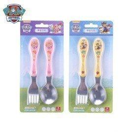 Original 2Pcs Paw Patrol KidS Scoop And Fork Set 304 Stainless Steel Fork Spoon Puppy Patrol Figure Tableware Kids Toy Set Gift Wonder Toy World/hoodmat.com