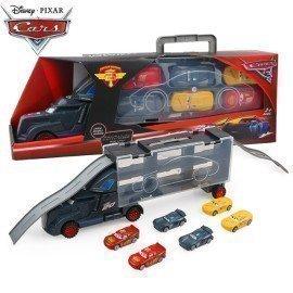 Disney  Pixar Cars 3 Figure Toys Diecast Metal Truck Hauler With 6 Small Cars Disney Cars 3 Jackson Storm Mcqueen Toys For Kids  Wonder Toy World/hoodmat.com