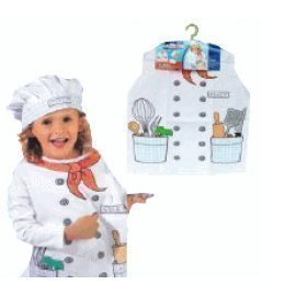 1 Piece Of Children  Cook Costumes Size (3-7Year Old ) Lauchen/hoodmat.com