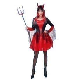 1 Piece Of Instant Costumes Devil Woman Lauchen/hoodmat.com