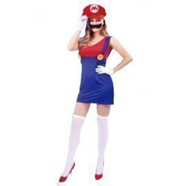1 Piece Of Instant Costumes Mario Girl Lauchen/hoodmat.com