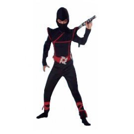 1 Piece Of Instant  Costumes Ninja Size (7-9Year Old) Lauchen/hoodmat.com
