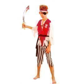 1 Piece Of Instant  Costumes Pirate Size (7-9Year Old) Lauchen/hoodmat.com