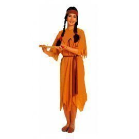 1 Piece Of Instant Costumes Pocahantas Indian Lauchen/hoodmat.com