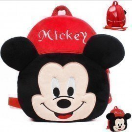 1 Pieces Of  Plush Mickey Backpack Carton Animated School Children Bag For Kid Size 28 By 23 By 9 (Small) ][Retail Purchase|Hoodmat.Com