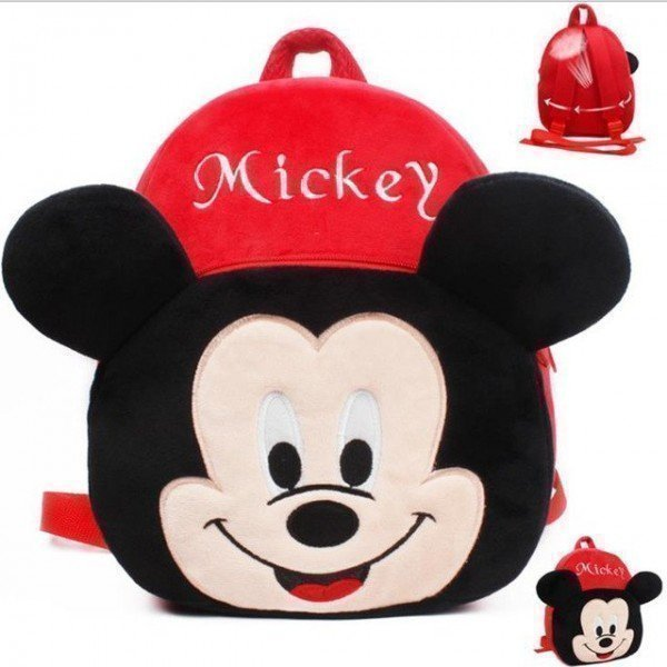 1 Pieces Of  Plush Mickey Backpack Carton Animated School Children Bag For Kid Size 35 By 27 By 12 (Medium) ][Retail Purchase Hoodmat.Com
