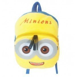 1 Pieces Of  Plush Minions Backpack Carton Animated School Children Bag For Kid Size 28 By 23 By 9 (Small) ][Retail Purchase|Hoodmat.Com