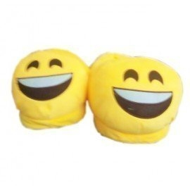 1 Pieces Of  Popular Winter Warm Indoor Soft Plush Smile Emoji Slipper ][Retail Purchase|Hoodmat.Com