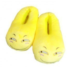 1 Pieces Of  Popular Winter Warm Indoor Soft Plush Spy Emoji Slipper ][Retail Purchase|Hoodmat.Com