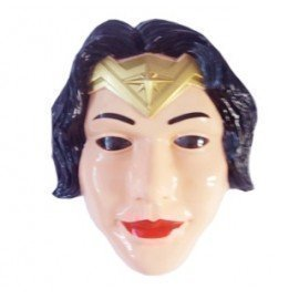 1 Pieces Of  Simple Design Children Cartoon Face Mask Halloween Party Felt Wonder Woman Mask Led Mask ][Retail Purchase|Hoodmat.Com
