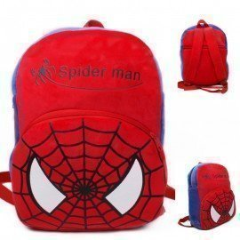 1 Pieces Of  Plush Spiderman Backpack Carton Animated School Children Bag For Kid Size 28 By 23 By 9 (Small) ][Retail Purchase|Hoodmat.Com